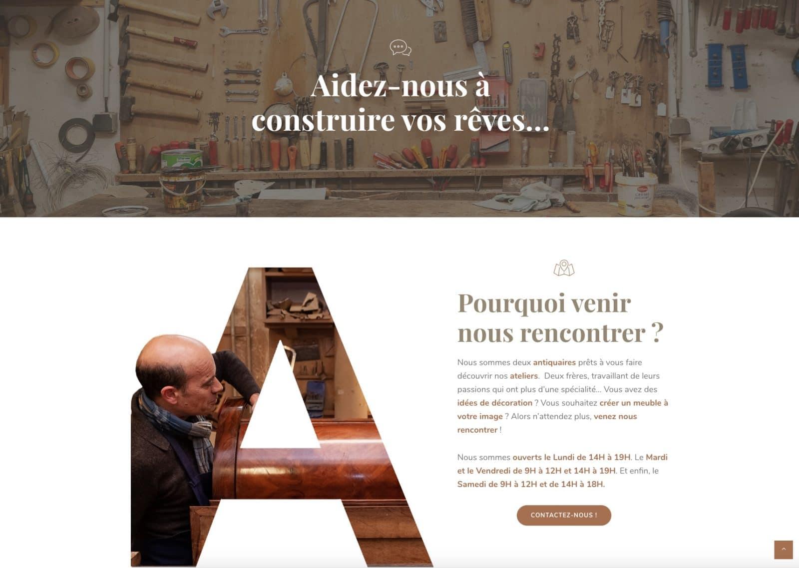 Allegretti vous aide à construire vos rêves ! Client de l'agence web et digitale Karedess de mulhouse