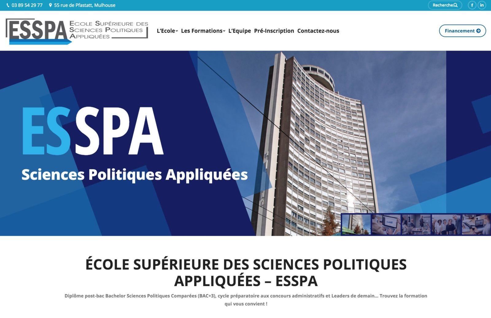 ESSPA page d'accueil client Karedess. Une formation situé à Mulhouse