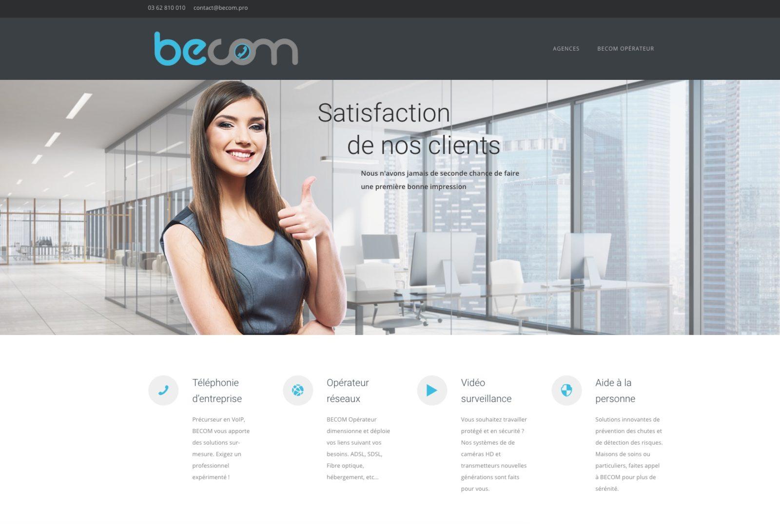Becom.pro - satisfaction client, une agence web situé à Mulhouse