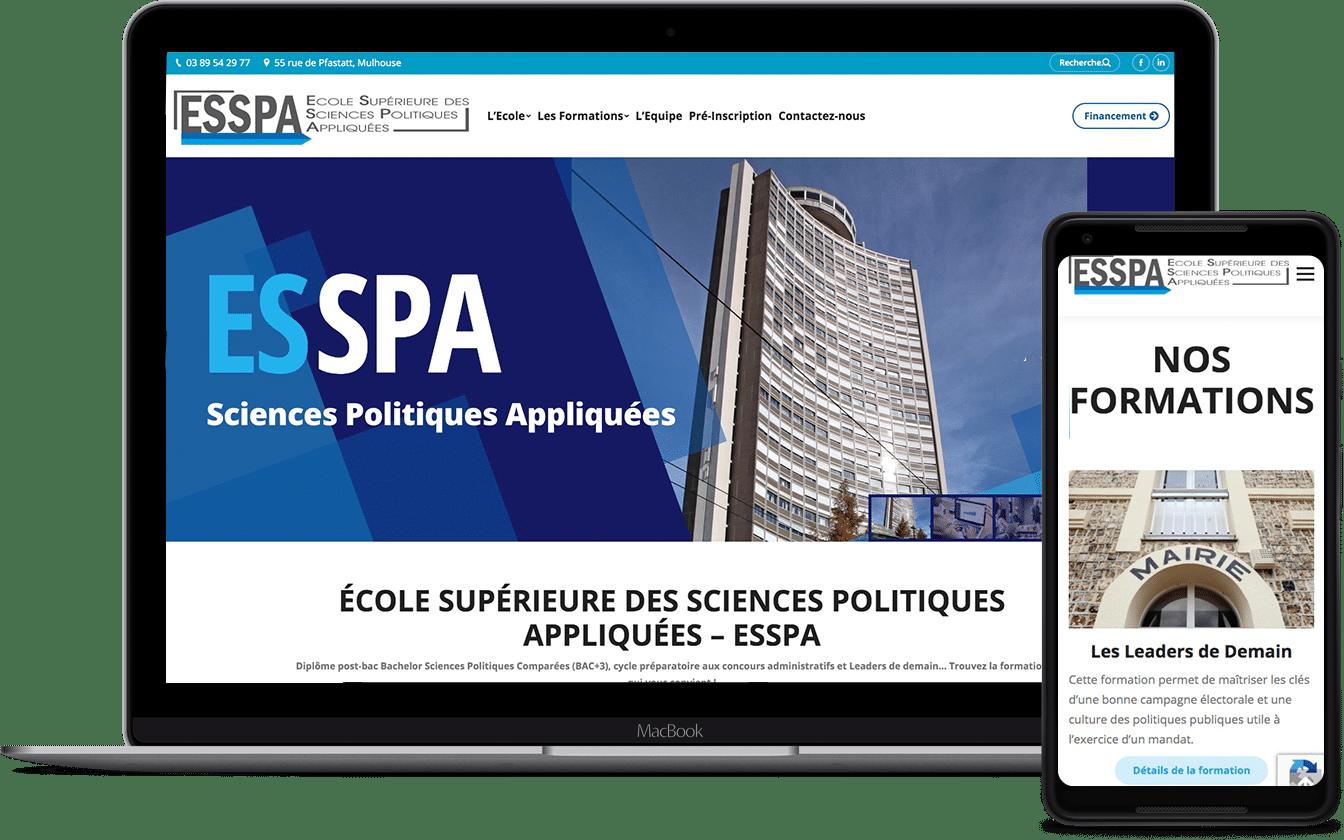 ESSPA, école supérieur des sciences politiques appliquées, un client Karedess
