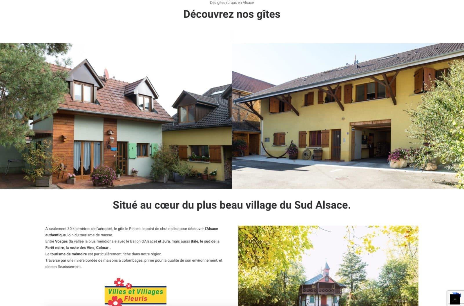 Gîte rural à fait confiance en l'agence web Karedess, situé à Mulhouse
