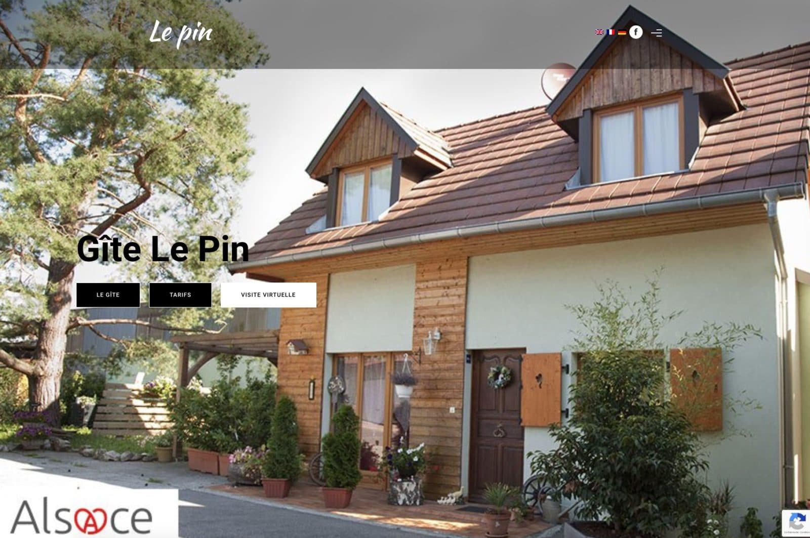 Gîte Le pin, à fait confiance en l'agence Karedess pour la création de son site