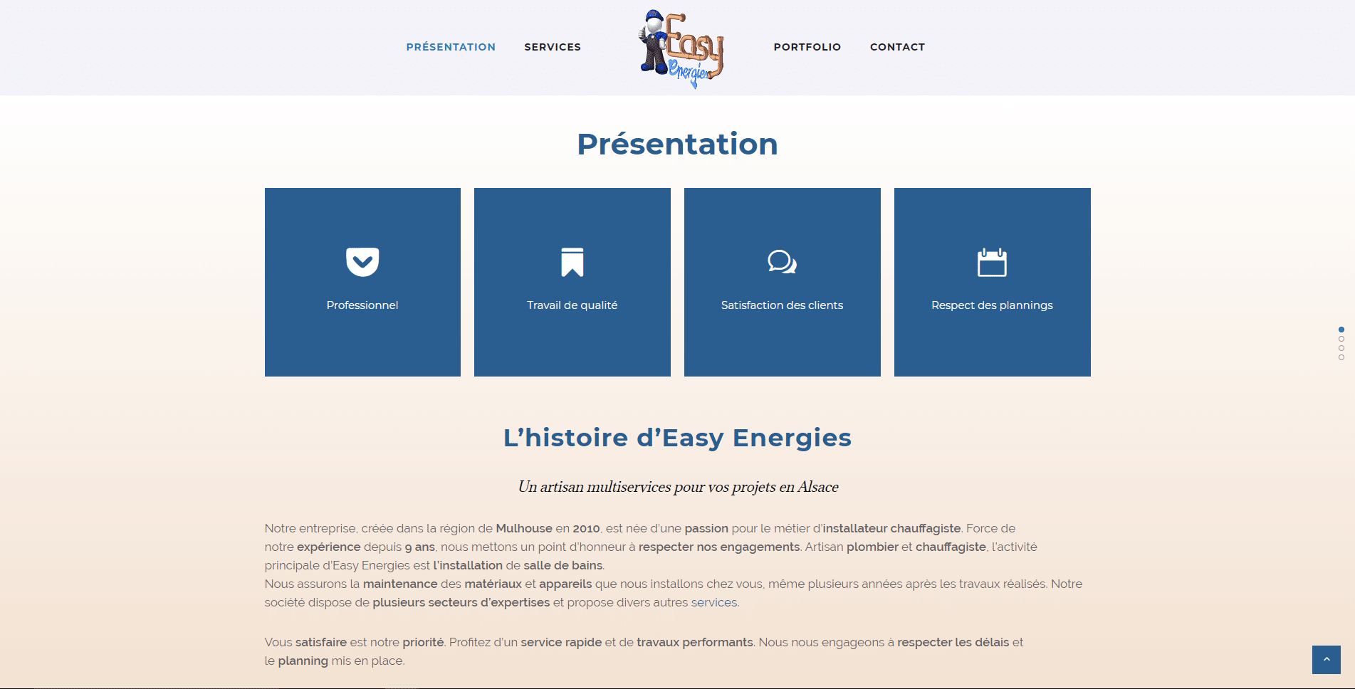 Easy Energies est un client de l'agence web Karedess, agence web situé à Mulhouse