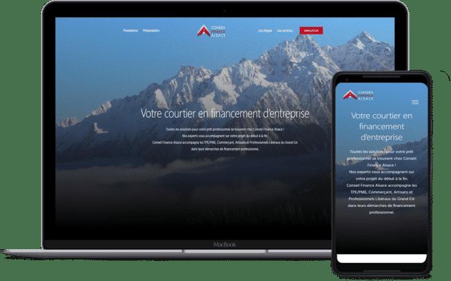 Conseil finance Alsace est un client de l'agence web Karedess, agence web situé à Mulhouse