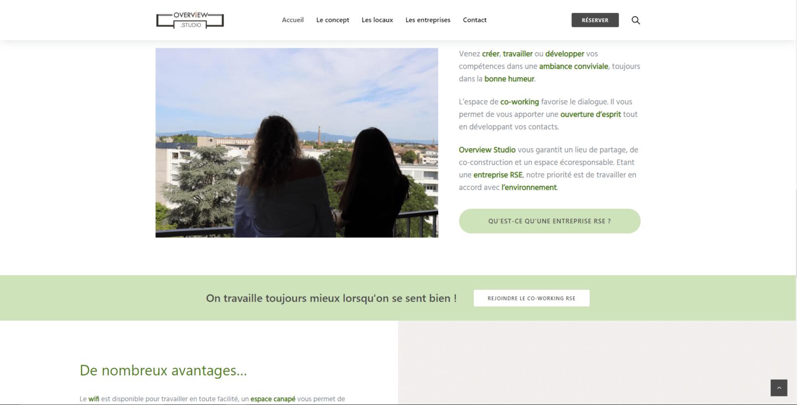 Overview.studio est un client de l'agence web Karedess, agence web situé à Mulhouse