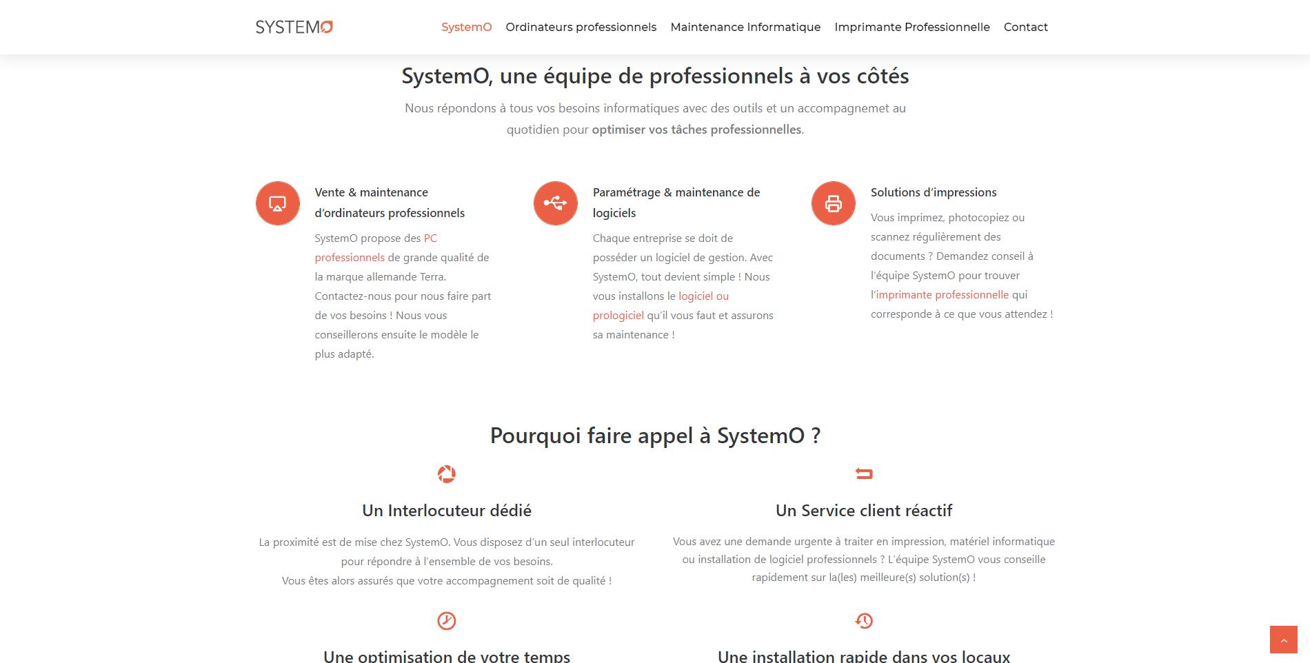 Systemo est un client de l'agence web Karedess, agence web situé à Mulhouse